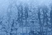 Snowflakes becomes water - background