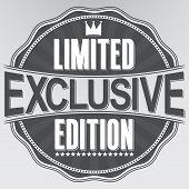 Exclusive Limited Edition Retro Label, Vector Illustration