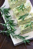Baked Polenta With Italian Cheese And Rosemary