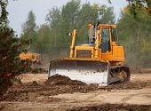 Industrial Technologies: bulldozer on a construction site