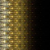 Symmetrical Fractal Flower Gold, Digital Artwork For Creative Graphic