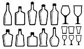 Set Alcohol Bottle And Glass