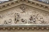 VIENNA, AUSTRIA - OCTOBER 10: Architectural details on the famous Karls kirche in Vienna, Austria on October 10, 2014