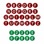 alphabet and numbers icons