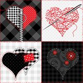 image of quilt  - Seamless pattern background - JPG