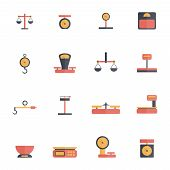 Scales Weight Icon Flat