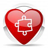 puzzle valentine icon