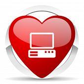computer valentine icon pc sign