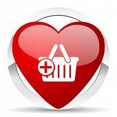 cart valentine icon shopping cart symbol