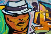 Man With Fedora Hat Graffiti