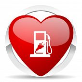 fuel valentine icon hybrid fuel sign