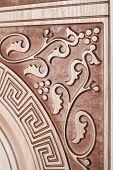 Fragment Beautiful Carved Brown Wooden Door