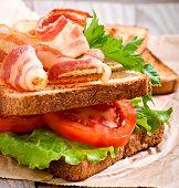 stock photo of baps  - hot big sandwich - JPG