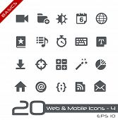 Web & Mobile Icons - 4 // Basics