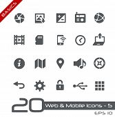 Web & Mobile Icons - 5 // Basics