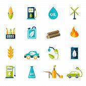 Bio Fuel Icons Set