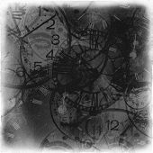 Abstract Vintage Time Conceptual In Black Tones