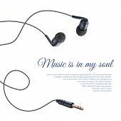 Realistic Headphones Poster