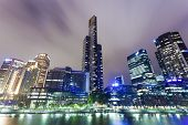 Skyscrapers in Southbank precinct of Melbourne, Australia