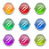 paperclip icons set