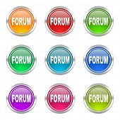 forum icons set