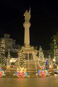 Columbus Plaza At Christmas