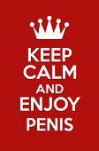 Keep Calm And Enjoy Penis