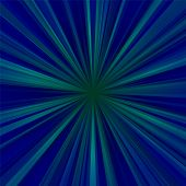 Abstract blue centralized background of regular rays