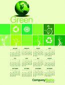 2015 Green Environmental Calendar