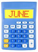 Calculator With June