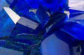 Blue Vitriol Mineral Background