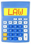 Calculator With Law On Display