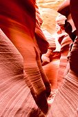 The Famous Antelope Canyon In Arizona, Usa
