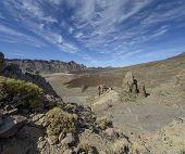 La Catedral Rock In National Park Las Canadas Del Teide.