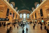 NEW YORK CITY, NY - AUG 8: Grand Central interior on August 8, 2014 in Manhattan, New York City. It is the second busiest station of the New York City Subway system with 42M passengers.
