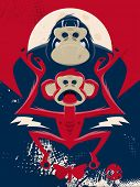 picture of chimp  - chimp and gorilla illustration - JPG