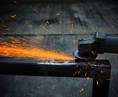 heavy metal grinding in steel industry factory