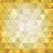 Abstract Background Of Gold Triangle Style