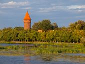 Round tower at the river