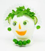 Egg decorated with parsley