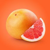 Grapefruit Citrus Fruit With Slice