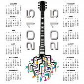 abstract 2015 Guitar music calendar