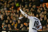 VALENCIA, SPAIN - JANUARY 4: Barragan during Spanish King Cup match between Valencia CF and RCD Espanyol at Mestalla Stadium on January 4, 2015 in Valencia, Spain