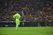 VALENCIA, SPAIN - JANUARY 4: Pau Lopez during Spanish King Cup match between Valencia CF and RCD Espanyol at Mestalla Stadium on January 4, 2015 in Valencia, Spain