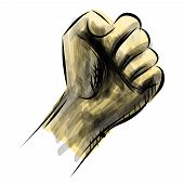 Strong fist isolated on white
