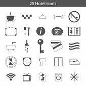 Set of hotel icons