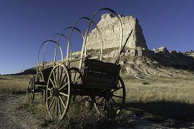 picture of western nebraska  - Scotts Bluff National Monument is located in western Nebraska - JPG