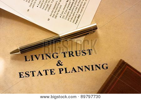 Living trust and estate planning document.
