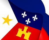 image of acadian  - 3D Flag of the Acadiana - JPG