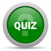 picture of quiz  - quiz green glossy web icon